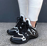 Кроссовки Louis Vuitton Archlight sneakers black/white. Живое фото. Топ реплика ААА+