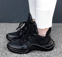 Кроссовки Louis Vuitton Archlight sneakers Triple black. Живое фото. Топ реплика ААА+