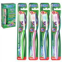"Зубная щетка ""Fresh care"" MH-1042 разные цвета, пластик, 12 штук, зубные щетки, уход за полостью рта, щетки"