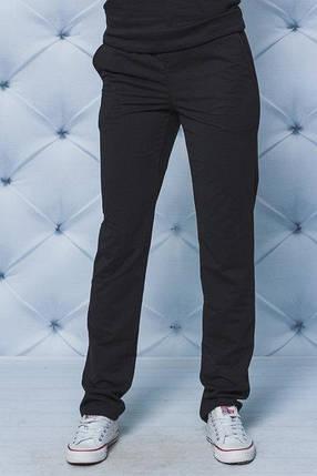Спортивные штаны  черные батал, фото 2