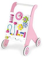 Ходунки-толкач розовый для девочки фирмы VIGA toys