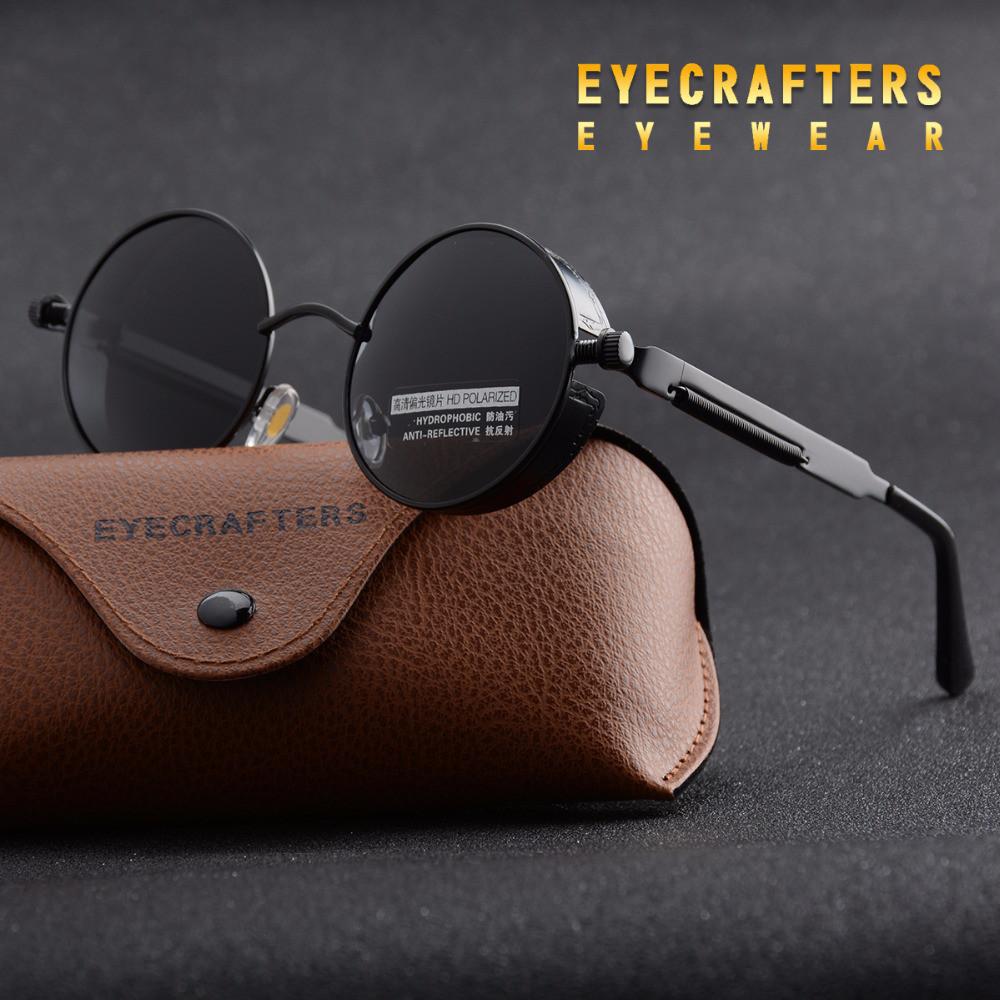 Ретро стиль мужские женские солнцезащитные очки Molniya Black