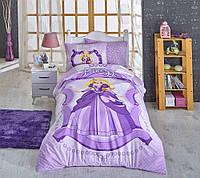 Постельное белье с прекрасной принцессой HOBBY Ranforce Princess сиренивый fcfceab273436