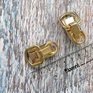 Крепление боковое для ручки с двумя кольцами, золото.