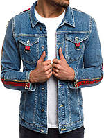 Мужская модная джинсовая куртка 0237, фото 1