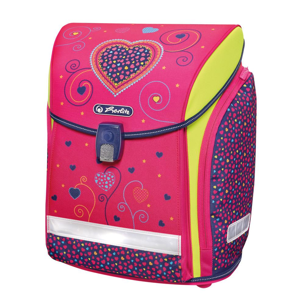 Ранец школьный Herlitz MIDI Hearts Pink
