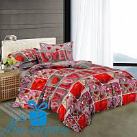 Двуспальное постельное белье из сатина LOVE YOU (180*220)