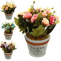 """Композиция из искусственных цветов """"Paris"""" R22333, 15*15*23  cм, Искусственные цветы, Декор"""