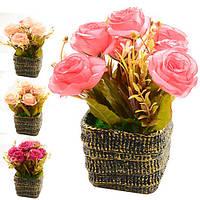 """Композиция из искусственных цветов """"Богемия"""" R22319, 16*18 см, Искусственные цветы, Декор"""
