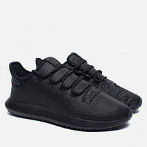 Мужские кроссовки adidas Originals Tubular Shadow | Black кожа, фото 3