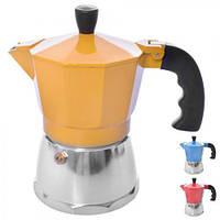 Кофеварка гейзерная Stenson R16590, алюминий, на 3 чашки, Кофеварка, Посуда для приготовления кофе
