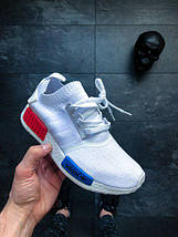 Мужские кроссовки Nmd Runner Pk - Adidas - white/red/blue, фото 3