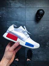 Мужские кроссовки Nmd Runner Pk - Adidas - white/red/blue, фото 2