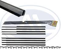 """Уплотнитель опускного стекла двери ВАЗ 2104, 2105, 2107 горизонтальный, загнутые (к-т 8 шт.) """"бархотка"""""""