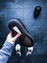 Мужские кроссовки Adidas Yeezy Boost 350 V2 Bred Red Black, фото 2