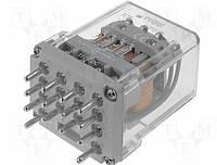 Реле R15 10 А 110 ( пост.) 4CO тест-кнопка без бл.,світлодіод-індикатор,випрямний діод гасящий, фото 1