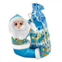 Новогодняя игрушка - упаковка для подарков микс D11141 ткань / пластик, голубой, игрушка на елку, новогодние украшения, новый год, елочные