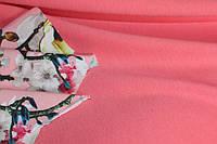 Персик насыщенный.Ткань Французский трикотаж персик , фото 1