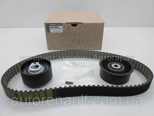 Комплект ремень + 2 ролика ГРМ на Рено Трафик 03-> 2.5dCi — Renault (Оригинал) - 7701477380