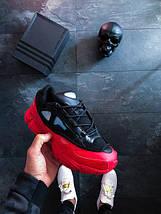 Мужские кроссовки adidas x Raf Simons Ozweego Bunny Red Black, фото 2
