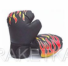 """Перчатки боксерские детские """"Пламя""""  6 oz. Рукавички боксерські"""