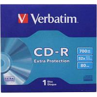 Диск CD Verbatim 700Mb 52x Jacket 1 pcs Extra (43843)