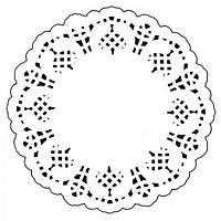 Салфетки кондитерские RD3512 ажурные, круг, 12 штук, 3,5 см, набор салфеток для стола, текстиль для кухни, кухня, праздничная скатерть