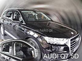 Дефлектори вікон (вітровики) Audi Q7 II 5d 2016r→(HEKO)