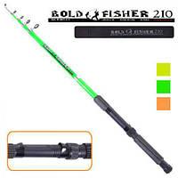 "Спининг телескопический ""Bold fisher"" R-001-2.1 стеклопластик, 2,1 м, 60-120 гр, спиннинг стеклопластик, спиннинг стекловолокно"