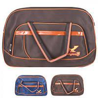 """Сумка дорожная """"Eagle"""" 54х35см, полиэстер, наружный карман, ремень через плечо, сумка для поездок, сумка для путешествий, большая сумка"""