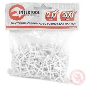 Набор дистанционных крестиков для плитки Intertool 2.0 мм/200 шт (арт. НТ-0351)