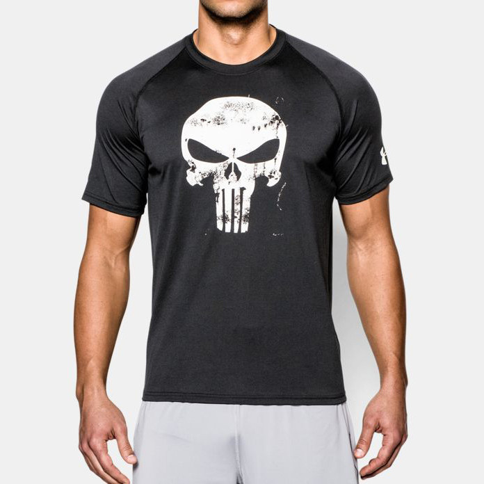 Футболка Under Armour Alter Ego Punisher Compression 1923 Сиво-черная XL (1923)