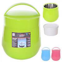 """Термос пищевой пластик Stenson """"Boom"""" C-137 с железной колбой 1,5л, разные цвета, термос для еды, термос для продуктов, термо контейнеры для еды"""