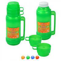 """Термос Stenson """"Flask"""" с стеклянной колбой 1 л + 2 чашки"""