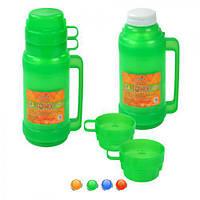 """Термос Stenson """"Flask"""" с стеклянной колбой 1,8 л + 2 чашки"""