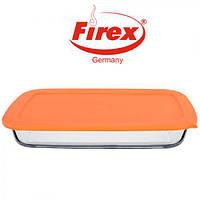 """Форма для запекания термостекло емкость с крышкой """"Firex"""" F236714, прямоугольная, 1,6л, судочек из термостекла с крышкой"""