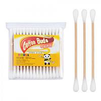 Ухочистки деревянные J00851, 80шт/уп 24уп/пак, ушные палочки, палочки для чистки ушей, ухочистки