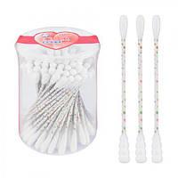 """Ухочистки """"Гусеница"""" J00843 розовые, в упаковке 100шт, 12 уп / пак, ватные диски и палочки, ватные палочки для ушей, ушные палочки"""