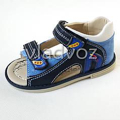 Детские босоножки сандалии для мальчика синие Clibee 25р.