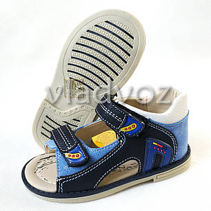 Детские босоножки сандалии для мальчика синие Clibee 25р., фото 2