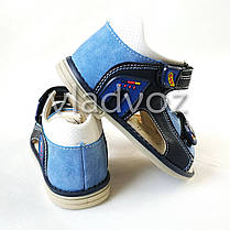 Детские босоножки сандалии для мальчика синие Clibee 25р., фото 3