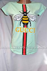 Женская футболка (р. 42 - 46) купить оптом со склада