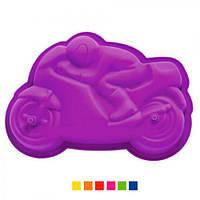 """Форма силиконовая Stenson """"Мотоцикл"""" HH-568 разные цвета, 31х22х6 см, товары для кухни из силикона, формы для выпечки, посуда, силиконовая форма"""