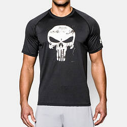 Футболка Under Armour Alter Ego Punisher Compression 1923 Сиво-черная XXXL (1923)