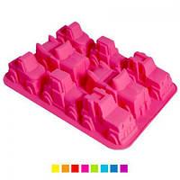 """Форма силиконовая Stenson """"Тачки"""" HH-426 разные цвета, 33х24,5х5 см, товары для кухни из силикона, формы для выпечки, посуда, силиконовая форма"""