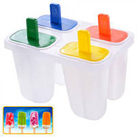 Формы для мороженного H11990, пластик, из 4 шт, 11 см, Для мороженного, Набор для мороженного