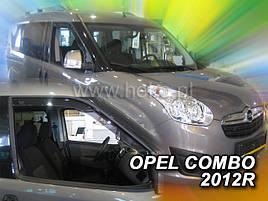 Дефлекторы окон (ветровики)  OPEL COMBO 2011 →(HEKO)