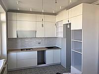 Кухня на заказ с крашеными матовыми фасадами. , фото 1