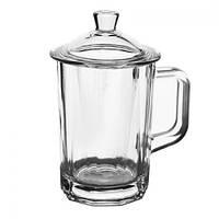 """Чашка - заварник стеклянная """"Red tea"""" EZ1008 объем 275 мл, чашка заварник, чашка стеклянная с крышкой, чашка заварник с крышкой"""