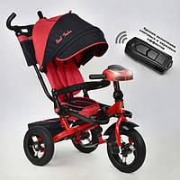 Велосипед трехколесный BestTrike 6088-2120 надувные колёса, поворотное сидение, фара, пульт, складной руль